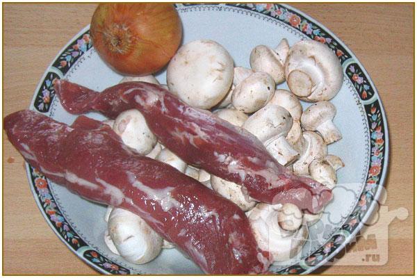 рецепты для мультиварки из свинины и грибов
