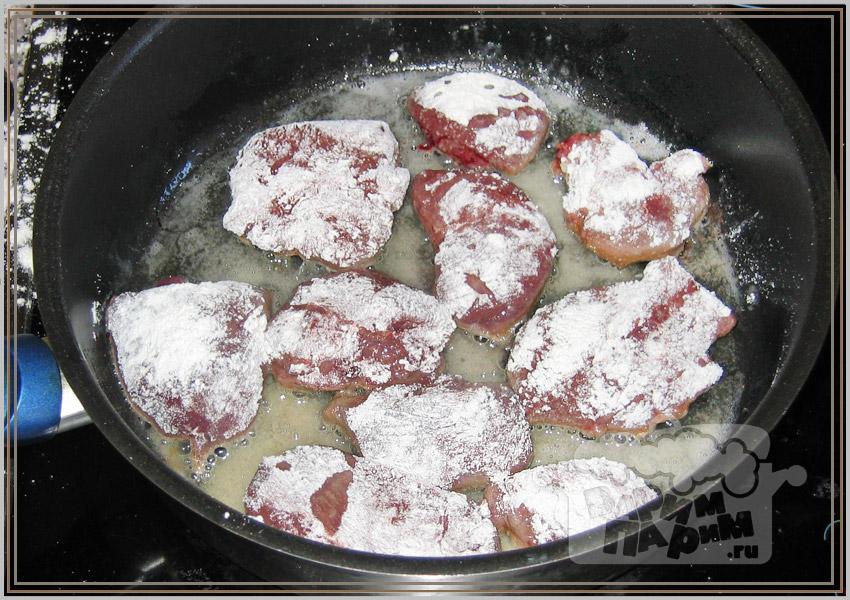 Как пожарить печень в муке