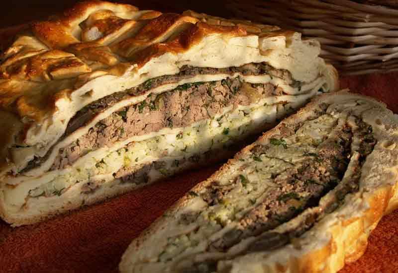 Кулебяка с мясом рецепт с фото пошаговый