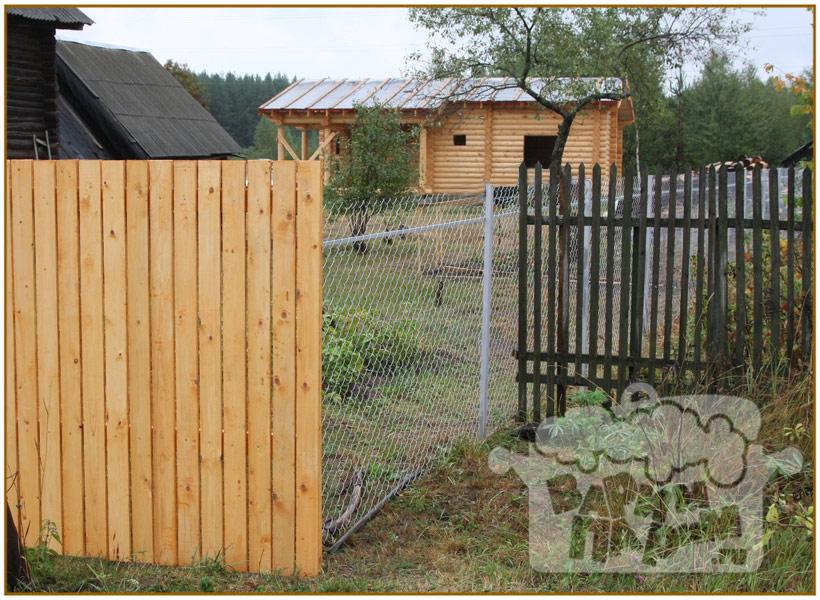 Из чего сделать забор дешево своими руками 908